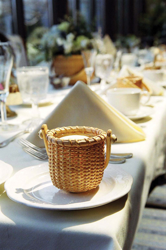 Wedding Candle in delicate basket
