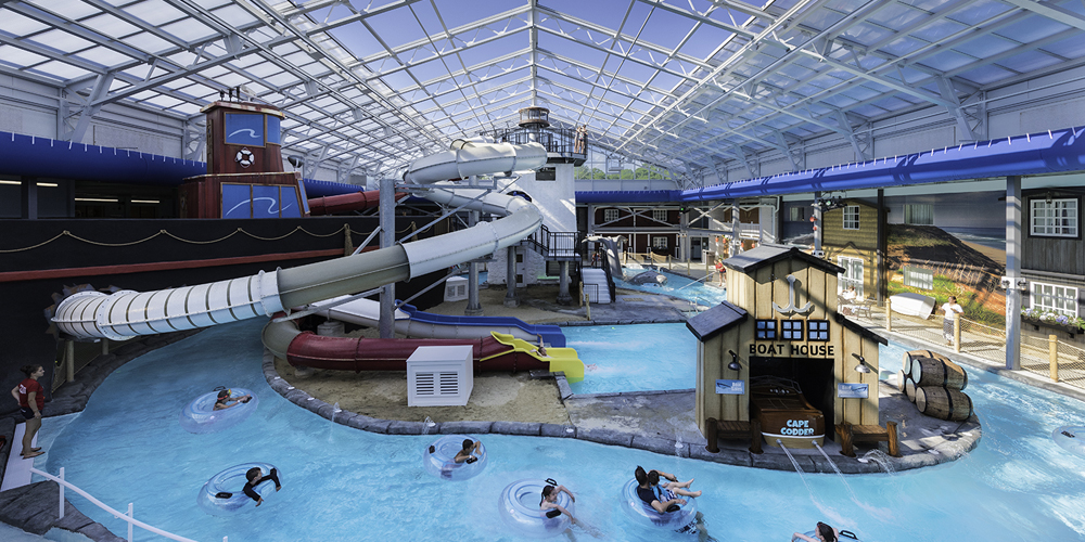 Indoor & Outdoor Water Park at the Cape Codder Resort & Spa