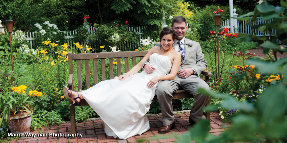 Garden photos from a Cape Cod Wedding