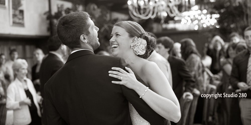 A First Dance at an elegand Cape Cod wedding reception