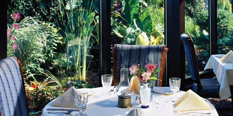 Dining in the Romantic Conservatory in Sandwich Village