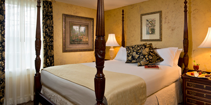 Comfort awaits in the Fessenden Suite Bedroom